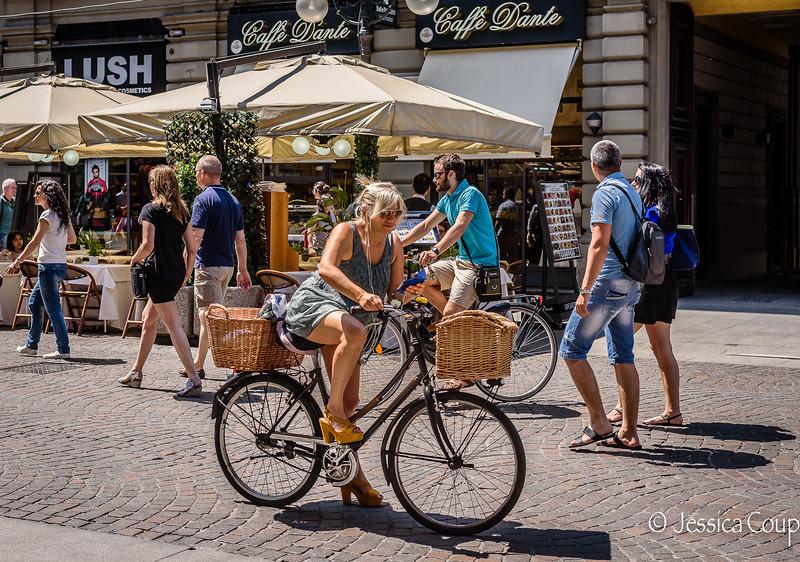Fashionable Biker