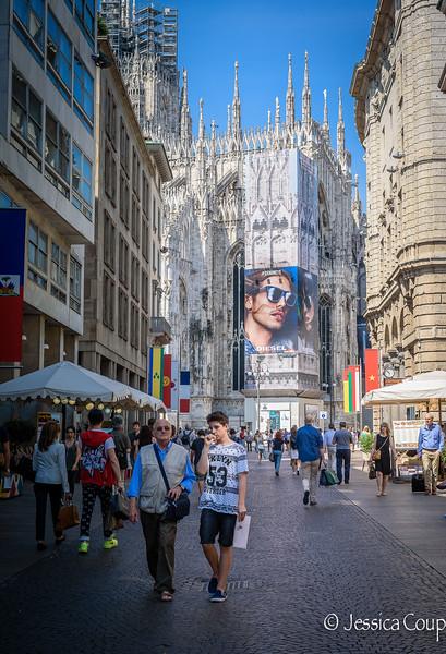 Diesel Billboard on the Duomo