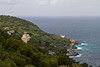 A view of the coastline of the Gulf of Napoli near Massa Lubrense, Italy.