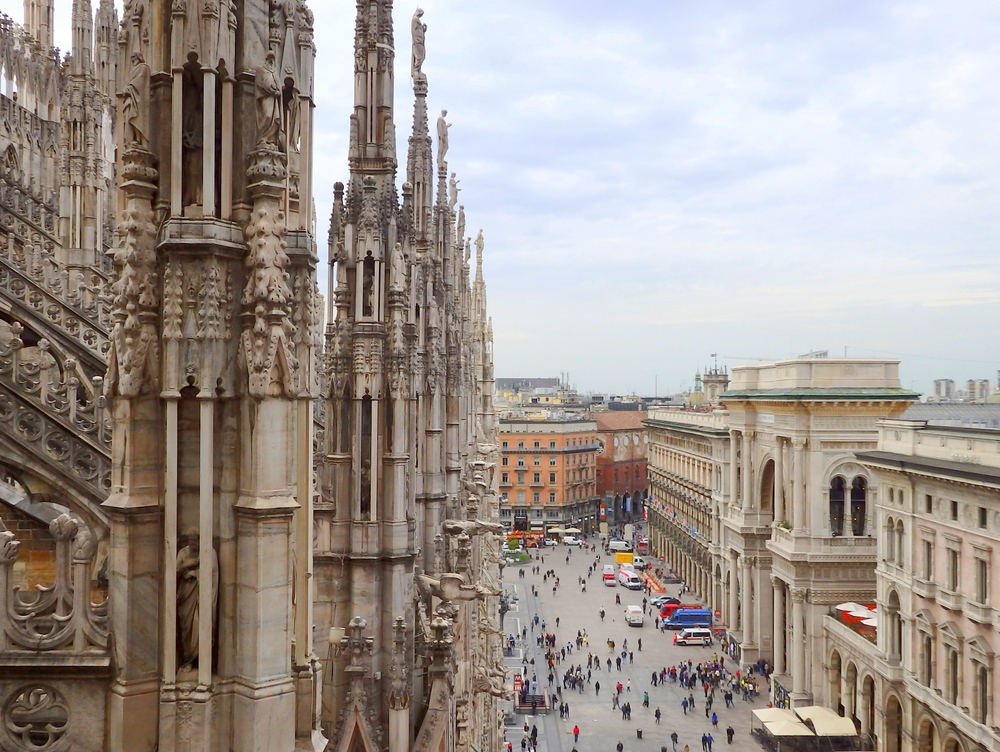 Incredible Il Duomo Terrace views of Milan, Italy