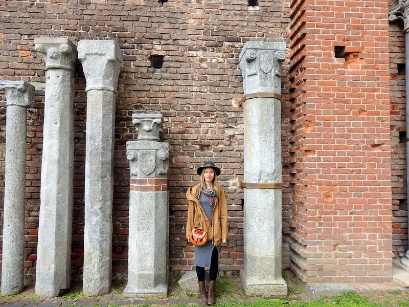 Visiting the ruins inside Sforza Castle