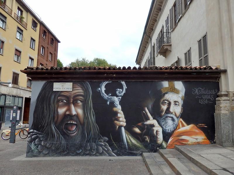 Urban art in Milan's streets