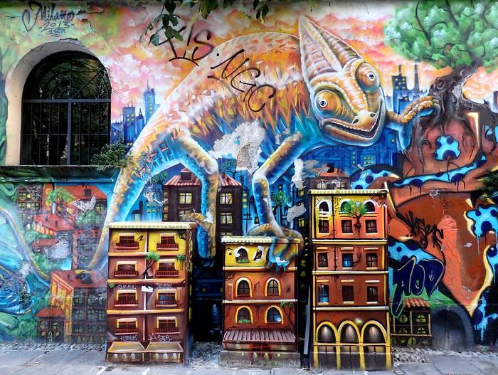 Street Art around Porta Ticinese in Milan, Italy