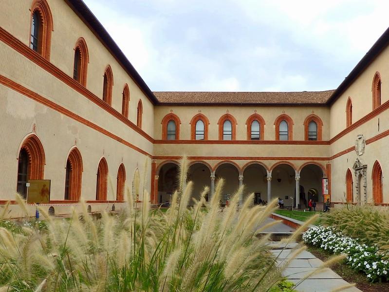 The courtyards of Castello Sforzesco