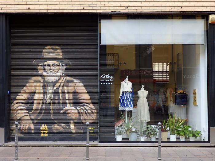 Shopping along Via Torino in Milan, Italy