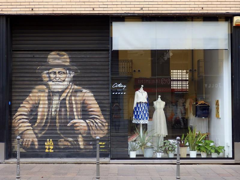 Street art on storefronts