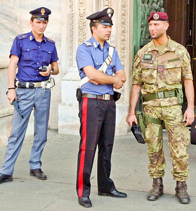 Security at the Duomo
