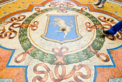 Galleria Vittorio Emanuele II - A tradition to do a heel spin on the bull's testicles.