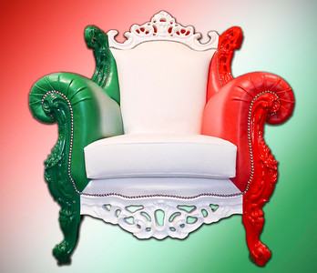 Chair with the Italian colors