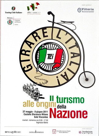 Poster for the annual Italy bicycle race.