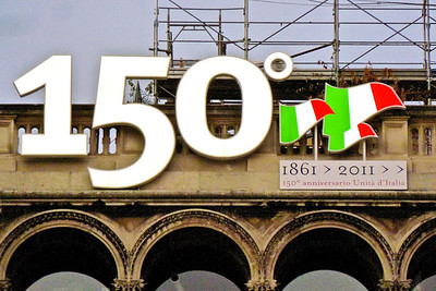 Italy celebrating its 150th year as a country.