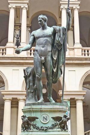 Pinacoteca di Brera Gallery -Statue of Napoleon and Tinker Bell