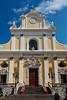 The Santa Trofimena church in the Amalfi coast town of Minori, Italy.