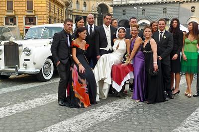 Wedding street scene