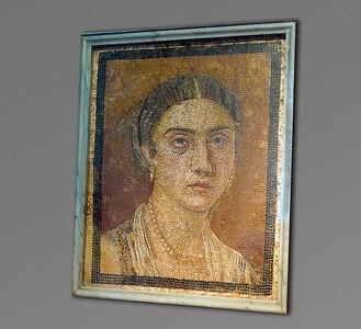 Mosaic of female (Pompeii)