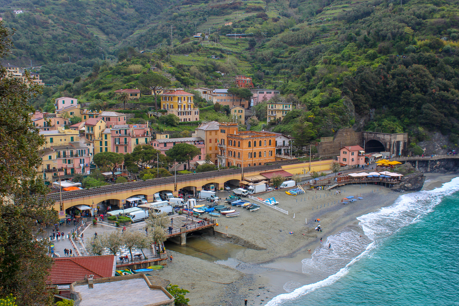 need the best town to stay in cinque terre? if you want a beach, hit up monterosso