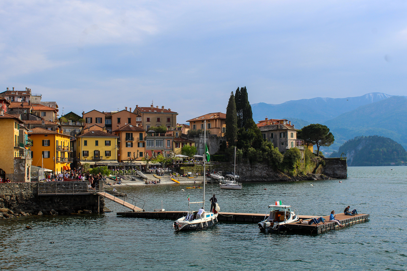 enjoy the lake on your first trip to italy