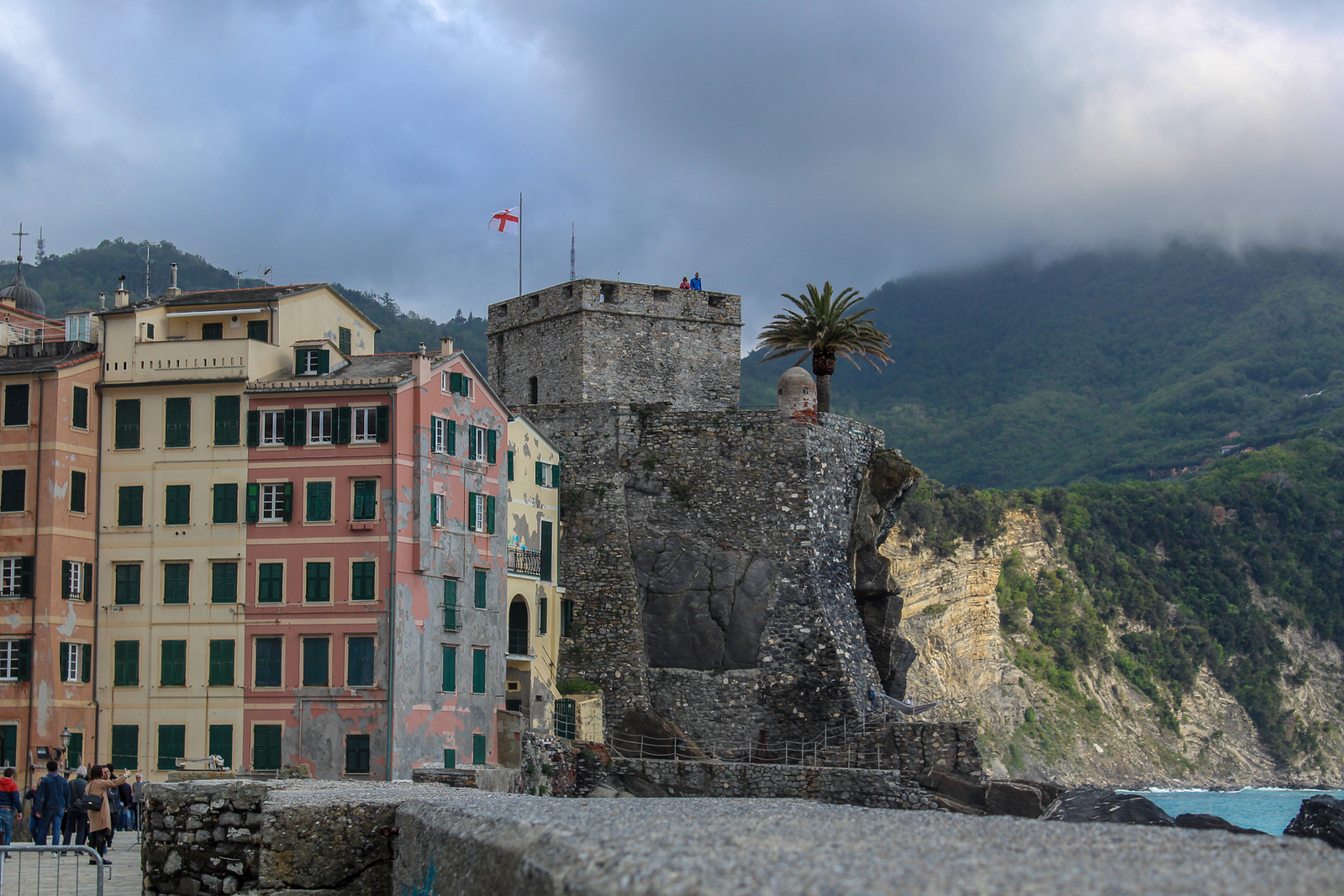 things to do in camogli italy: see an old castle on the water