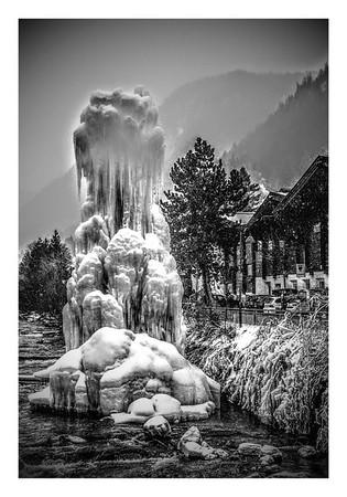 """Ice Sculpture"" - Ortesei - 2 (B&W)"