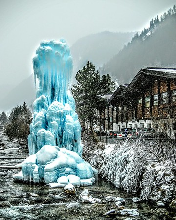 """Ice Sculpture"" - Ortesei"