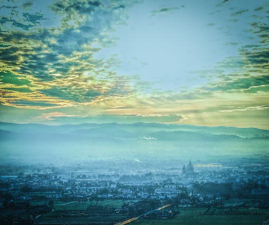 """Assisi Sunset - Tramonto di Assisi"" - Italia"