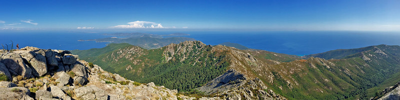 View from Mount Capanne, Elba island, Italy