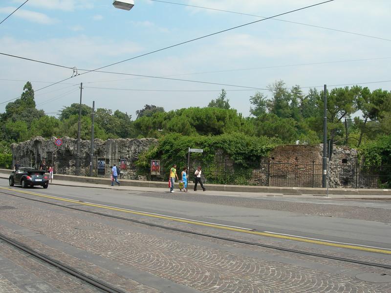 The view from Corso Garibaldi towards the park where there are the Scrovegni Chapel and the Eremitani church.<br /> <br /> La vista da Corso Garibaldi verso il parco dove si trova la cappella degli Scrovegni e la chiesa degli Eremitani