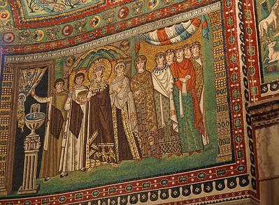 Ravenna - Basilica di San Vitale - Theodora and her entourage.