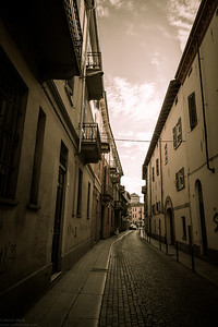 Narrow street in Alessandria