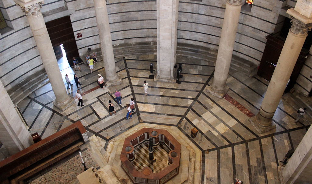 Interior of the Pisa Baptistery (Battistero di San Giovanni)
