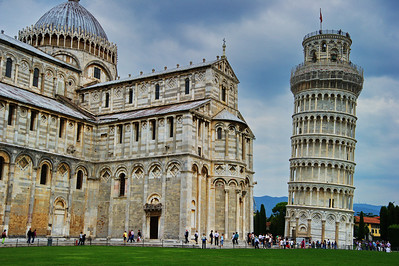 Pisa_Cathedral-side+Leaning=tower_D3S0257