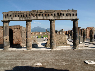 Pompeii - Basilica and Forum in background.
