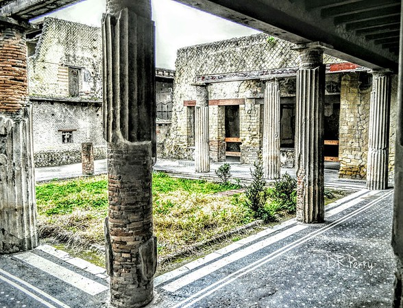 """Former Family's Court Yard"" - Ercolano (Herculaneum) Italy"