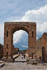 The Arch of Caligula in the ruins of Pompeii, Italy.