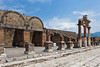 The Forum in the ruins of Pompeii, Italy.