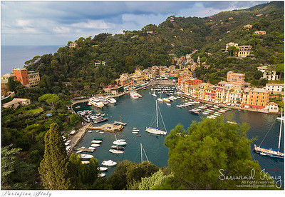 Great view of Portofino from Castello Brown