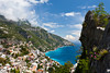 A view of the town of Positano and the Amalfi Coast, Italy.