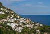 The Amalfi Coast town of Praiano, Italy.