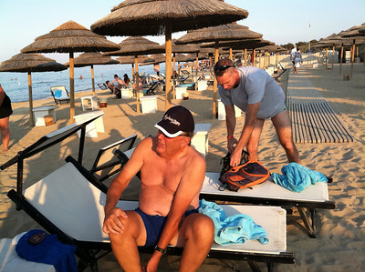 Private beach club of Masseria Torre Coccaro