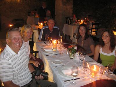 First night's dinner at Masseria Torre Coccaro.