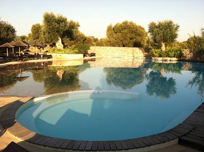 Lagoon-like pool at Masseria Torre Caccaro