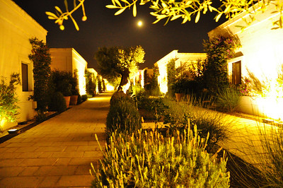 moonlight in our courtyard at Masseria Maizza