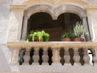 Almost every balcony in Matera has flowers or plants