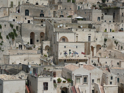 View of Sant Angelo (building w/ flags) from Santa Maria d'Idris