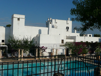 Pool area at Masseria Torre Maizza