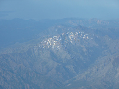 Flying over Corsica on way to Rome