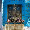 Blue Shrine with Gold Stars