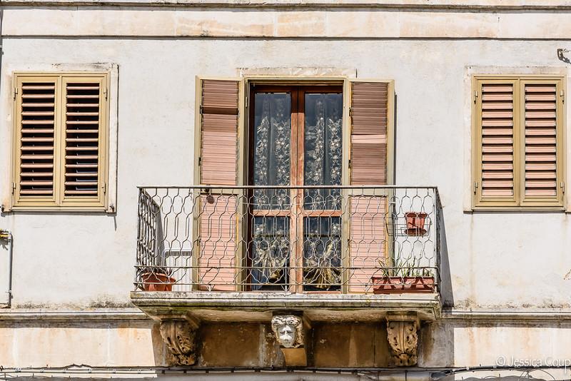 Face Under the Balcony