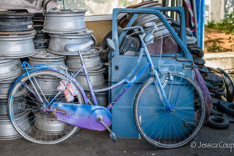 Blue and Purple Bike