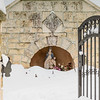 Shrine Covered By Snow
